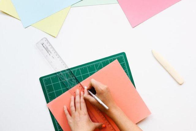 Papier en liniaal