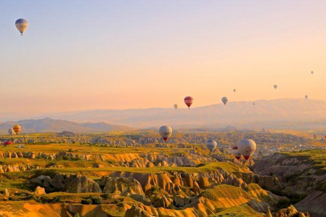 Luchtballonnen in de lucht